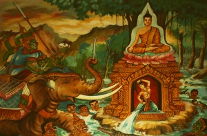 buddha and mara