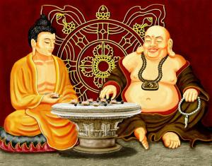 buddha playing game